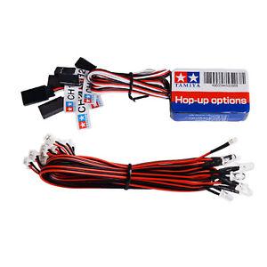 12 LED Lights Steering Brake System Lighting Kit for TAMIYA 1/8 1/10 RC Truck