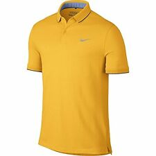 Nike Golf CLOSEOUT Men's TR Dry Washed Polo Shirt Yellow Size 725545-703 Large
