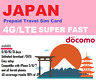 Travel to Japan? 8 days 16GB data Prepaid SIM NTT Docomo network