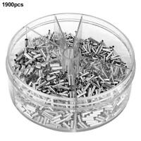 1900pcs Bare Non-insulated Butt Connector Terminals Splice Wire Terminal Kit NEW