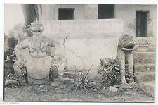 BM353 Carte Photo vintage card RPPC Indochine temple sculpture