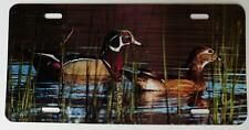Wood Ducks, Color Metal License Plate,Duck Hunter G 00004000 ift, Car Tag