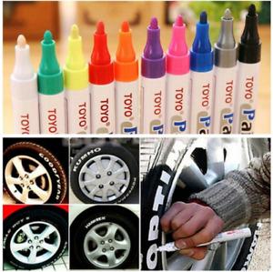 101934 2 x Reifen Stift Reifenmarker Auto Motor Marker Beschriftung Lackmarker