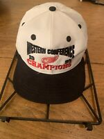Vintage Detroit Red Wings 1995 Conference Champions Hat Cap Adjustable Snapback