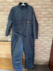 Duxbak Men's Size 2XL Navy Blue  Zip/Snap Full Body Warm Suit Coat Overalls