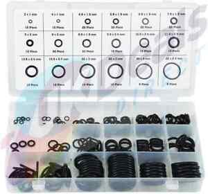 225PC Rubber O-Ring seals Tap Washers Gasket Assortment plumbing + Diesel Petrol