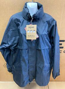 Agu Sport Mens Medium Size Blue Waterproof / Windproof Jacket. Lightweight *NOS
