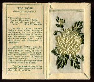 Kensitas Woven Silk Flowers, 1934, Small,1st Series,Folder Type C, TEA ROSE, #57