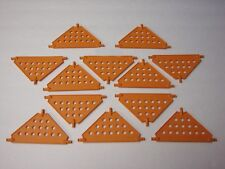 KNEX PANELS LOT Large Triangle Orange Platform Base Connectors Bulk Parts/Pieces