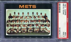 1971 Topps #641 Mets Team Card PSA 7 NM
