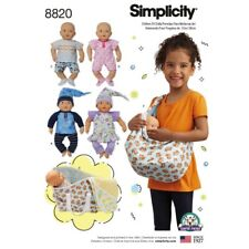 """Simplicity Pattern 8820 15"""" Baby Doll Clothes Children Sewing Patterns"""