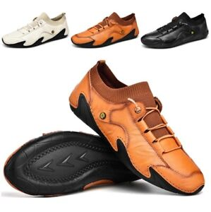 Men New Casual Shoes Soft Comfy Faux Leather Round Toe Driving Moccasins Loafer