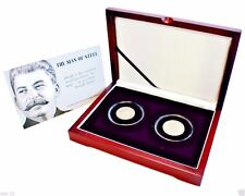 Joseph Stalin – Man of Steel, A Unique Collection of Two (2) Silver Coins,Boxed