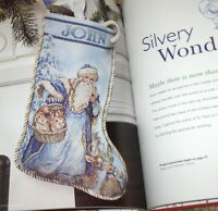 """Handmade Holiday"" Christmas Cross Stitch Pattern Book - Stockings Santa Angels+"