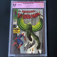 Amazing Spider-Man #48 (1967) 💥 SIGNED by STAN LEE 💥 CBCS 8.5 Vulture Marvel