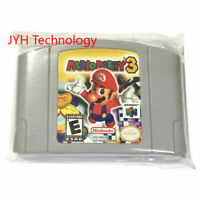 Mario Party 3 Video Game Cartridge Console Card For Nintendo N64 US Version