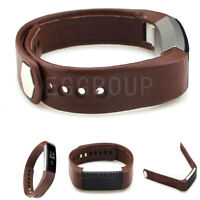 2021 US HOT Brown Replacement Leather Wrist Band Strap For Fitbit Alta