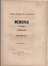 DIRITTO SOVATA BONIFICA GROSSETO MEMORIA IN CAUSA CAMAJORI E ANDREOZZI