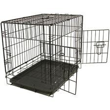 Pet Kennel Cat Dog Folding Steel Crate Animal Playpen Wire Metal Cage 48""