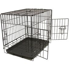 """Pet Kennel Cat Dog Folding Steel Crate Animal Playpen Wire Metal Cage 48"""""""
