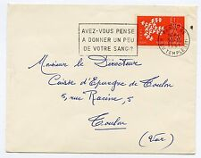 SEUL SUR LETTRE EUROPA PARIS 85 / / TOULON 1961