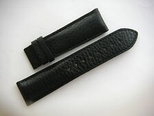 Original Pierre Balmain Black Leather Watch Strap Band Men's 22mm Deployment