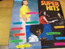 SUPER HITS TRIPLO LP  MICHAEL JACKSON LP+POSTER  & ROXY MUSIC GENESIS OLDFIELD