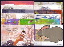 Macau 1999 Complete Set of 12 Overprint Souvenir Stamp Sheets Mint NH