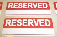 Bright Red RESERVED Stickers / Swing Tag Sticky Labels 20 x 50mm (3/4 x 2 Inch)