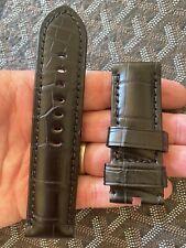 Panerai WatchStrap BLACK Alligator 26mm 4 47mm Luminor 1950 47 Radiomir 1940