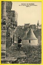 cpa Bretagne FOUGÈRES (Ille et Vilaine) CHÂTEAU BALCON de la TOUR de COIGNY