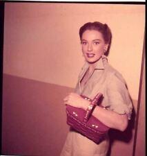 Deborah Kerr Rare Candid 1950's Portrait Tenant Sac à Main Original Transparence