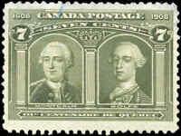 Used Canada 1906 7c F+ Scott #100 Quebec Tercentenary Issue Stamp
