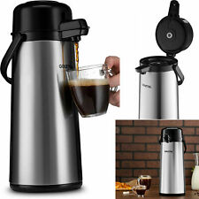 Stainless Steel Thermal Hot Cold Beverage Carafe Coffee Thermos Dispenser Pump