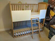 Bunk Cot Company twin cotbed, Bunk-bed Cotbed - Birth to 6yrs - Solid beech
