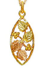 Landstrom's® 10K Black Hills Gold Pendant with Leaves and Grapes