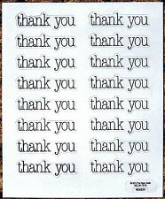 """THANK YOU STICKERS SEALS 5""""X4.25"""" Sheet #5 FAST USA SHIPPING! Acid Free"""