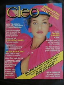 CLEO Magazine Jan 1985 No 147 Julie Christie 80s Fashion Beauty Cigs. Centrefold