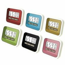 Digital KITCHEN TIMER Countdown Magnetic Fridge Cooking LCD Timing Clock UK
