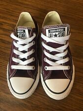 Converse All Star Burgundy Low Top Youth Size 1