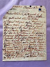 Stephen Tennant - 'The Monarch Of Glorious Sighs' Poem Manuscript