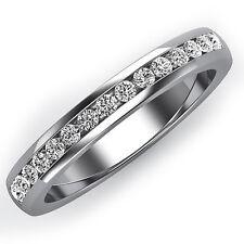 Round Cut Channel Set Diamond 14k Gold Wedding Band