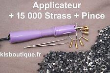 Kit Applicateur à Strass Violet + 15 000 Strass thermocollants + Pince #9681#