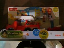 Fisher Price Little People Rescue Rig Fire Engine Gift Set Fireman Dog Truck Toy