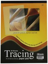 """1x Tracing 30 Sheet 9"""" x 12"""" Premium Quality Paper Pad Sketches Book Preliminary"""