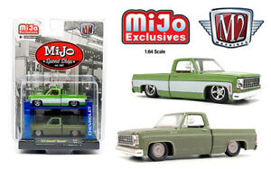 M2 Machines Auto Lift 1975 Chevy Silverado Squarebody MiJo Exclusive IN-STOCK