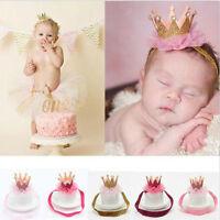 Baby Kids Girl Infant Princess Pearl Crown Tiara Headband Hair Band Head Jewelry