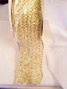 Farris Silk Ribbon Classic Jewel Lace Gold Full Roll