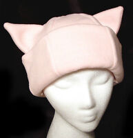PINK KITTY CAT EAR WINTER FLEECE PUSSY HAT PUSSYCAT SKI SNOWBOARD NEW NWT!