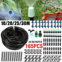 Automatic Drip Irrigation System Watering Garden Flower Plant Hose Greenhouse ❥